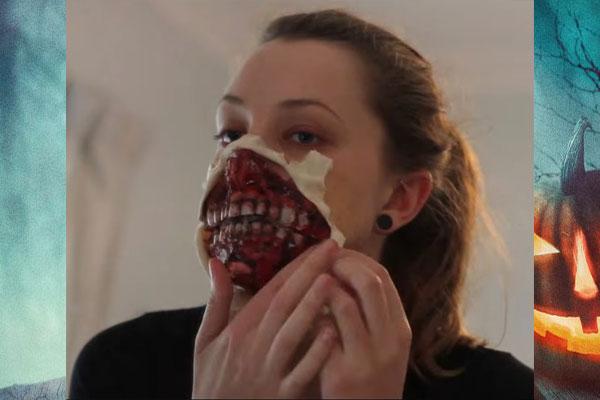 Нижняя челюсть для маски зомби фото