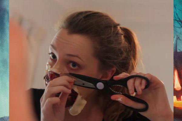 Выравнивание маски зомби на Хэллоуин