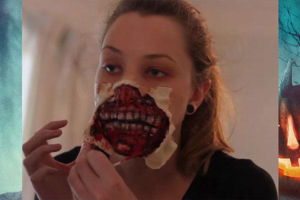 Красная краска для изготовления маски зомби