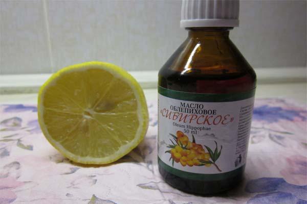 Облепиховое масло и лимонный сок