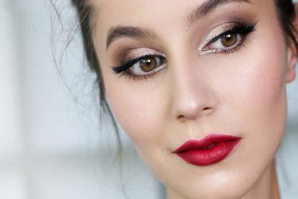 Пример макияжа при нависшем веке