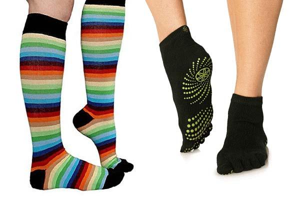 Разноцветные яркие носки