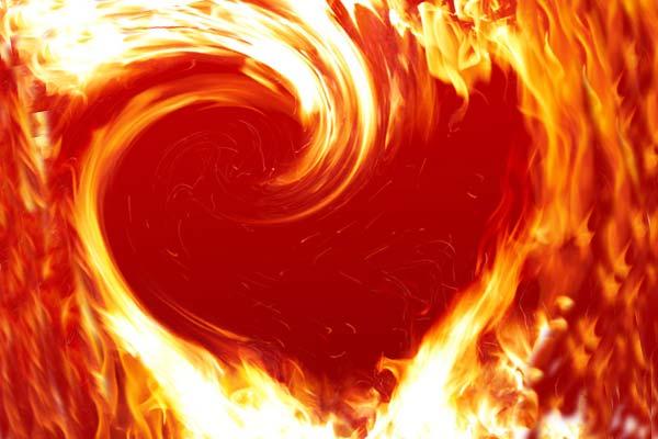Сердце, огонь, пламенное сердце