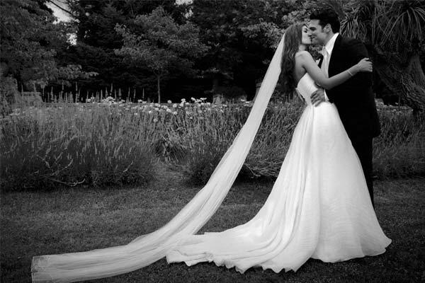 Свадьба в черно белых тонах