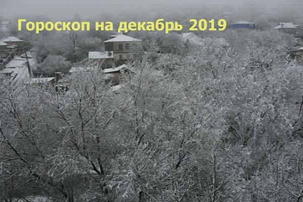 Гороскоп на декабрь