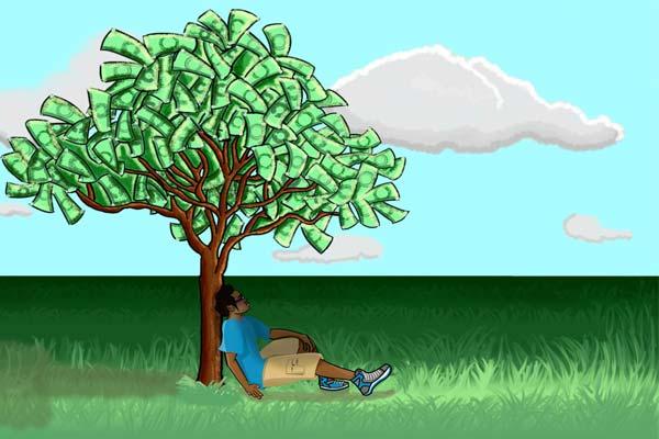Человек под денежным деревом