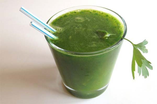 Сок из зеленых овощей