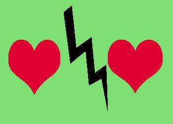 Сердца и молния
