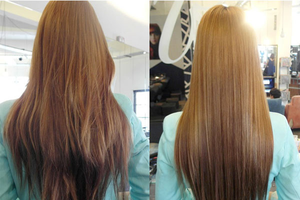 Волосы осветленные ромашкой фото до и после