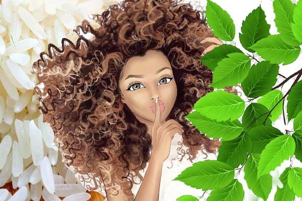 арт волосы рис