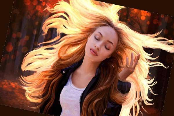 картинка девушка с рыжими волосами