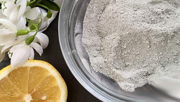 Белая глина и лимон