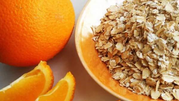 крупа овсянка и апельсин